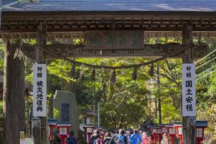 東京都八王子市 秋の高尾山の写真素材 [FYI04644544]