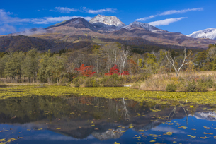 いもり池と妙高山の写真素材 [FYI04644598]