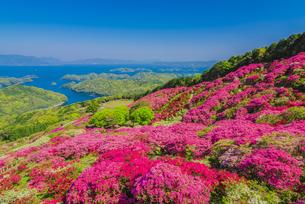 長串山公園と九十九島の写真素材 [FYI04644604]