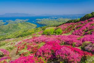 長串山公園と九十九島の写真素材 [FYI04644607]
