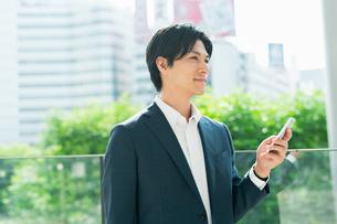 若いアジア人のビジネスマンの写真素材 [FYI04644879]