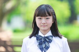 女子高生のポートレートの写真素材 [FYI04645017]
