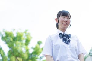 女子高生のポートレートの写真素材 [FYI04645024]