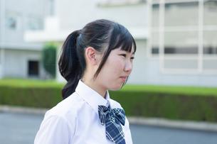 女子高生のポートレートの写真素材 [FYI04645025]