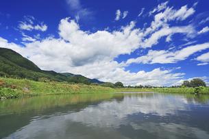安曇野の遊水池,ぬるめの写真素材 [FYI04645322]