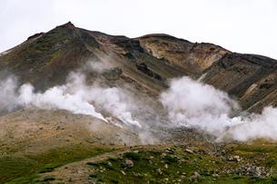 北海道 秋の大雪山旭岳の風景の写真素材 [FYI04645451]