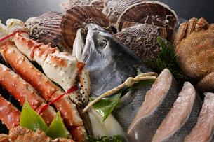 北海道魚介セットの写真素材 [FYI04645479]