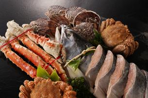 北海道魚介セットの写真素材 [FYI04645481]