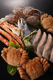 北海道魚介セットの写真素材 [FYI04645483]
