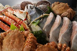 北海道魚介セットの写真素材 [FYI04645485]