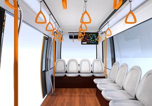自動運転バスのインテリアイメージの写真素材 [FYI04645842]
