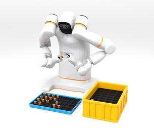 多関節双腕ロボットのイメージ。協働ロボットのコンセプトの写真素材 [FYI04645872]