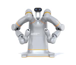 双腕ロボットのイメージ。協働ロボットのコンセプト。オリジナルデザインの写真素材 [FYI04645878]