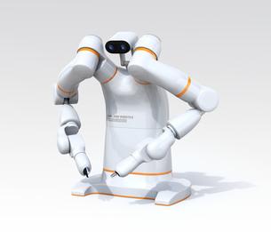 双腕ロボットのイメージ。協働ロボットのコンセプト。オリジナルデザインの写真素材 [FYI04645880]