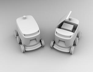 デリバリーロボットのクレイシェーディングイメージの写真素材 [FYI04645942]