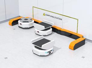 充電ステーションAMR自律型協働ロボットのコンセプトイメージの写真素材 [FYI04646022]