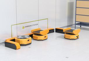 充電ステーションAMR自律型協働ロボットのコンセプトイメージの写真素材 [FYI04646024]