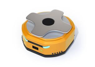 白バックにAMR自律型協働ロボットのコンセプトイメージの写真素材 [FYI04646047]