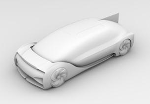 背景用クレイシェーディングの自動運転高級サルーンのイメージの写真素材 [FYI04646082]