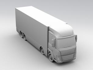 大型電動トラックのクレイレンダリングイメージの写真素材 [FYI04646286]