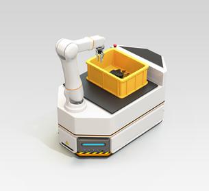 ロボットアーム付きの無人搬送車AGVのイメージの写真素材 [FYI04646350]