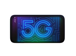 スマートフォンに「5G」文字が表示されている。のイラスト素材 [FYI04646456]