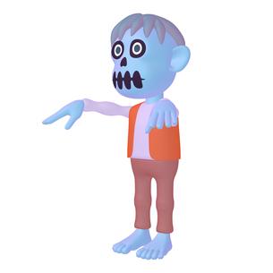 ハロウィン ゾンビのキャラクター (1_4)のイラスト素材 [FYI04646543]