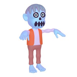 ハロウィン ゾンビのキャラクター (1_1)のイラスト素材 [FYI04646544]