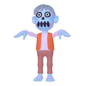 ハロウィン ゾンビのキャラクター (1_2)のイラスト素材 [FYI04646545]