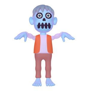 ハロウィン ゾンビのキャラクター (1_3)のイラスト素材 [FYI04646546]