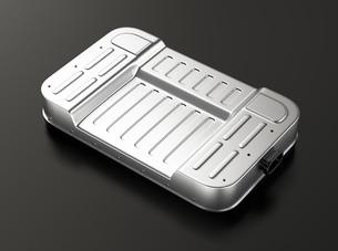 黒バックに電気自動車用バッテリーパックのイメージの写真素材 [FYI04646688]