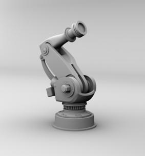 クレイシェーディングの大型産業用ロボットのイメージの写真素材 [FYI04646881]