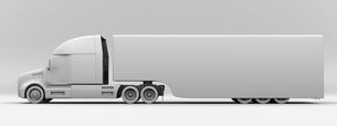 北米仕様燃料電池電動トラックのクレイレンダリングイメージの写真素材 [FYI04647258]