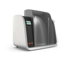 3Dファックスコンセプト。3Dスキャン、プリントとデータ送信機能付きの写真素材 [FYI04647325]
