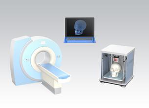 CTスキャンデータを3Dプリンタで出力コンセプトの写真素材 [FYI04647346]