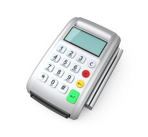 クレジットカード決済用端末の写真素材 [FYI04647356]