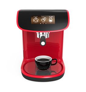 タッチパネル付きのエスプレッソコーヒーメーカーの写真素材 [FYI04647359]
