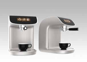 タッチスマホ用コーヒーメーカー制御アプリコンセプトの写真素材 [FYI04647365]