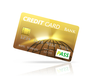ゴールドクレジットカードの写真素材 [FYI04647367]