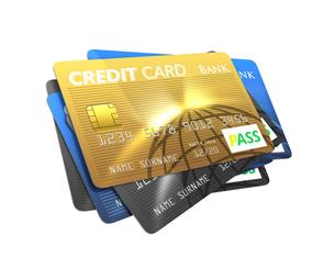 カラフルなクレジットカードの写真素材 [FYI04647370]