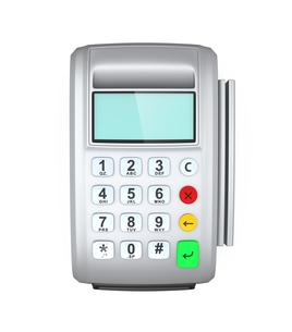 クレジットカード決済用端末の写真素材 [FYI04647384]