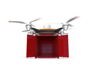 コンテナを配送可能な無人機の写真素材 [FYI04647392]