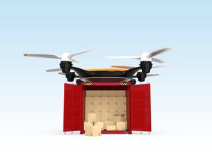 コンテナを配送可能な無人機の写真素材 [FYI04647395]