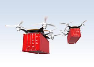 コンテナを配送可能な無人機の写真素材 [FYI04647396]