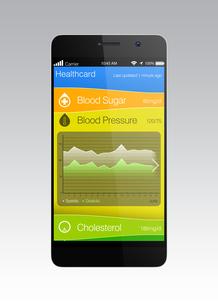 血圧管理アプリコンセプトの写真素材 [FYI04647422]