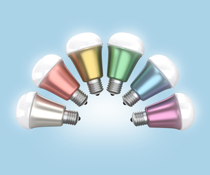 LED電球のカラーバリエーションの写真素材 [FYI04647423]