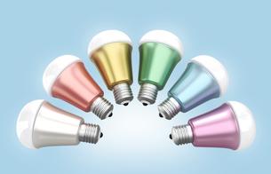 LED電球のカラーバリエーションの写真素材 [FYI04647424]