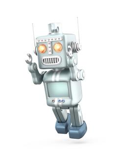 かわいいレトロロボットがジャンプするの写真素材 [FYI04647435]