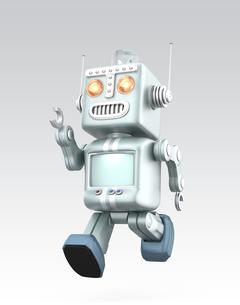 キュートなロボットが走るの写真素材 [FYI04647436]