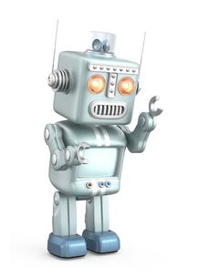 キュートなロボットが走るの写真素材 [FYI04647437]